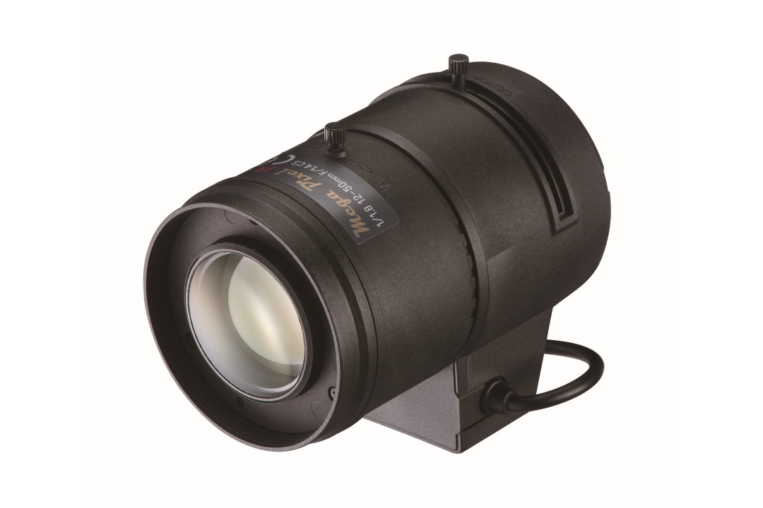 12 to 50 mm IR-Corrected CCTV Lens with Auto-P-Iris and CS-Mount