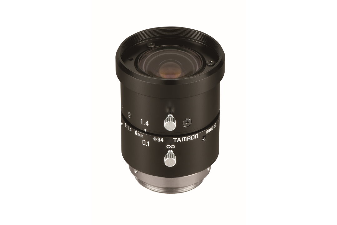 Ultra-Compact 6 mm Machine Vision Lens for 1/1.8-inch High-Resolution Sensors
