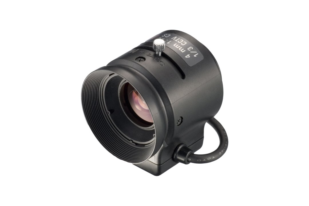 4 mm IR-Corrected CCTV Lens with DC Auto-Iris and CS-Mount