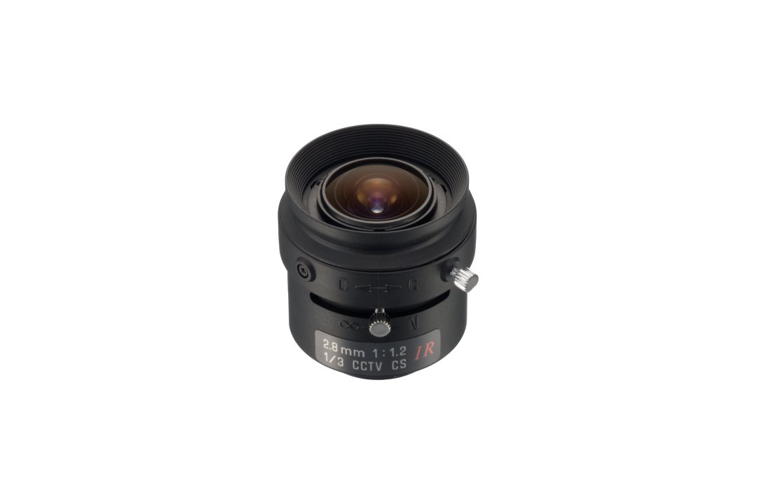 Compact 2.8 mm IR-Corrected CCTV Lens with CS-Mount