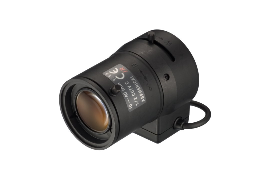 10 to 40 mm IR-Corrected CCTV Lens with DC Auto-Iris and C-Mount