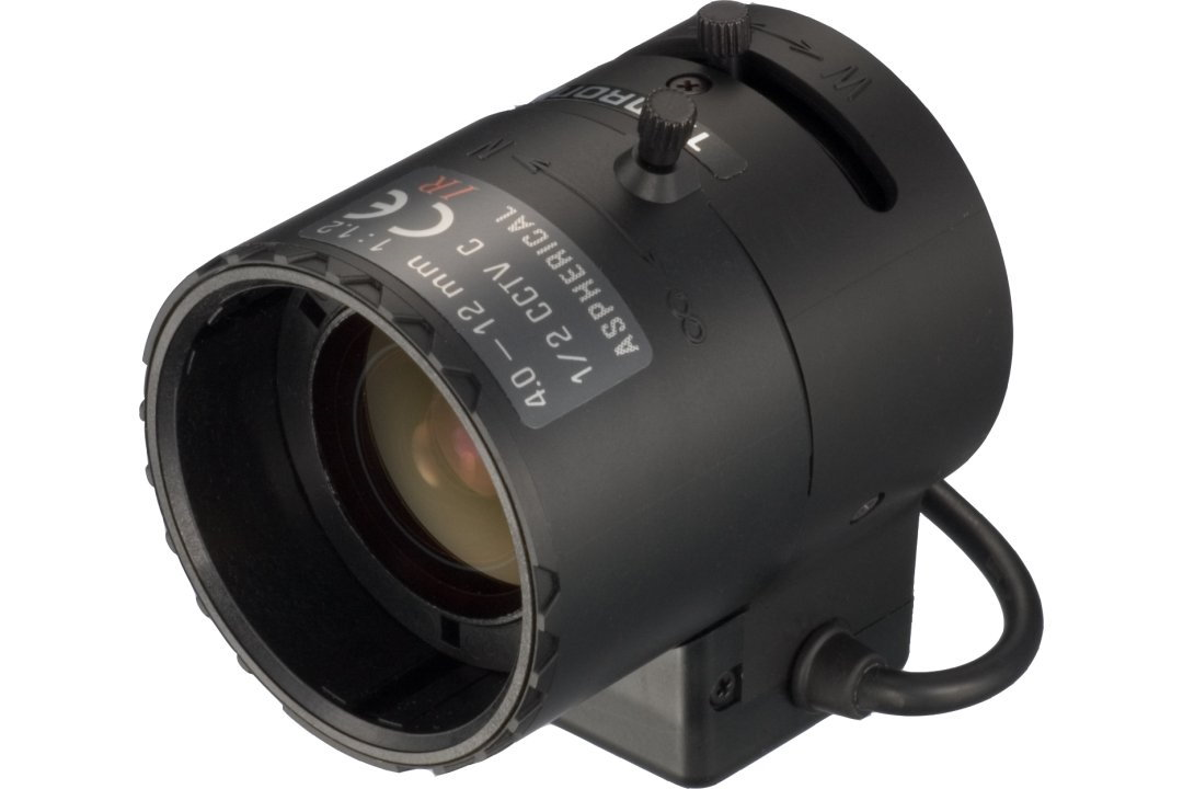 Compact 4 to 12 mm IR-Corrected CCTV Lens with DC Auto-Iris and C-Mount