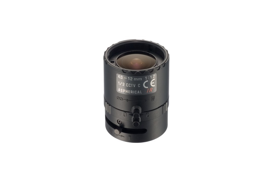 """""""- Corresponding with 1/2"""" Cameras - No focus shift between day and IR light - Fast F no. which is F/1.2 - Compact Design"""""""