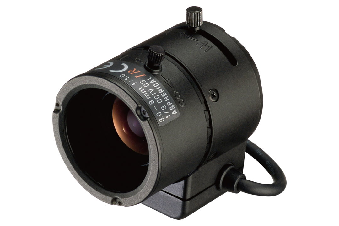 3 to 8 mm IR-Corrected CCTV Lens with DC Auto-Iris and CS-Mount