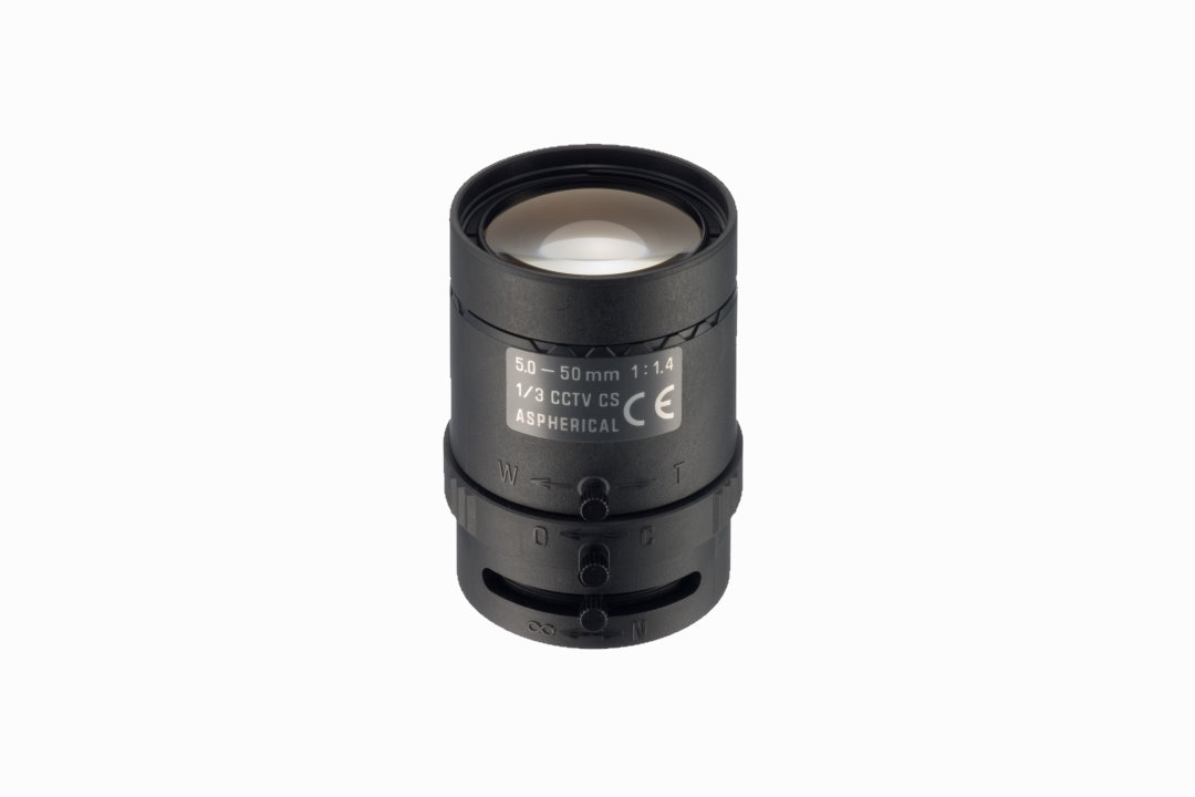 Compact 5.0 to 50.0 mm IR-Corrected CCTV Lens with CS-Mount