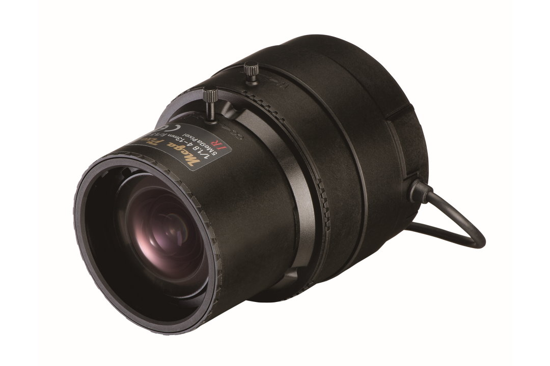 4 to 13 mm IR-Corrected CCTV Lens with DC Auto-Iris and C-Mount