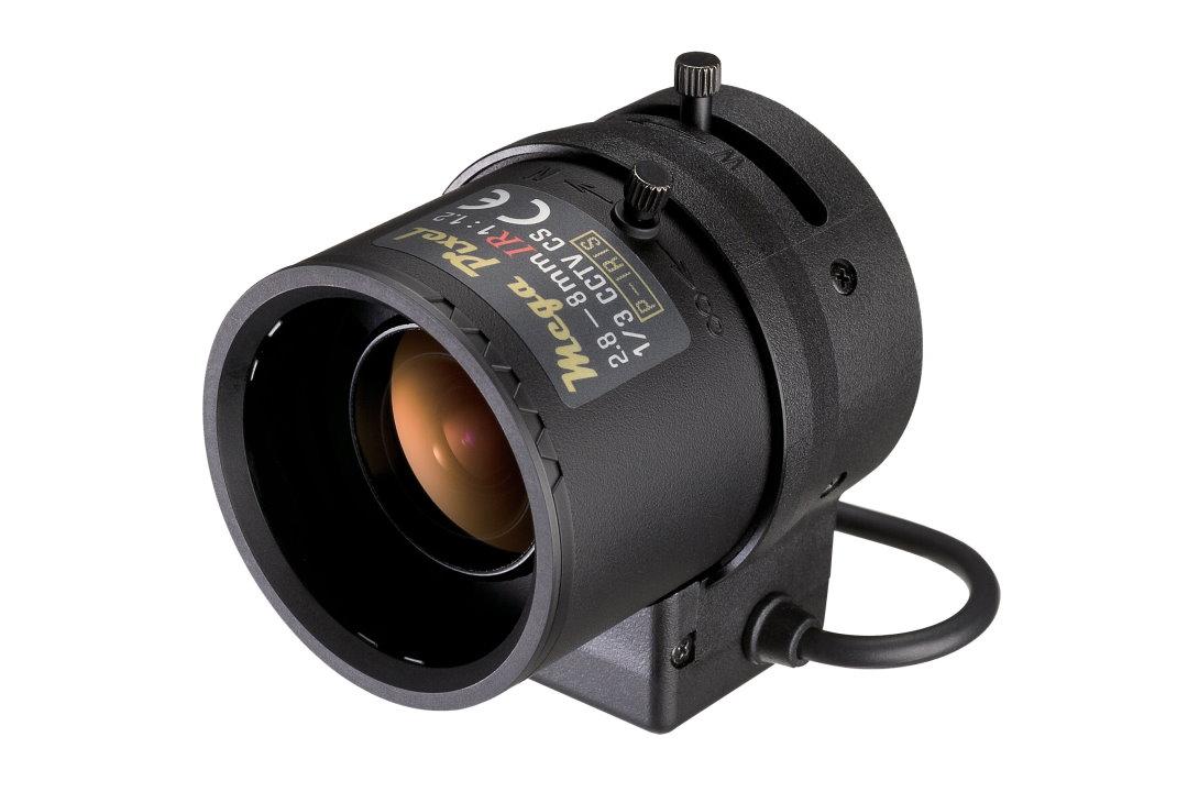 2.8 to 8 mm IR-Corrected CCTV Lens with Auto-P-Iris and CS-Mount