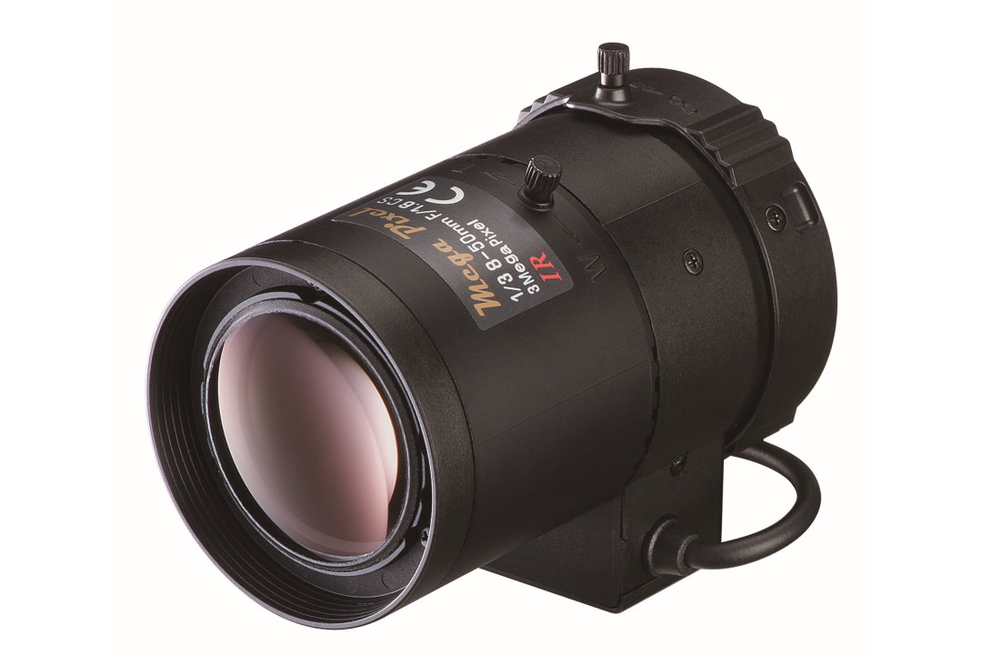 8 to 50 mm IR-Corrected CCTV Lens with Auto-P-Iris and CS-Mount