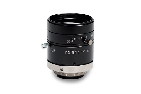 16 mm Machine Vision Lens for 2/3-inch High-Resolution Sensors with Small Pixels